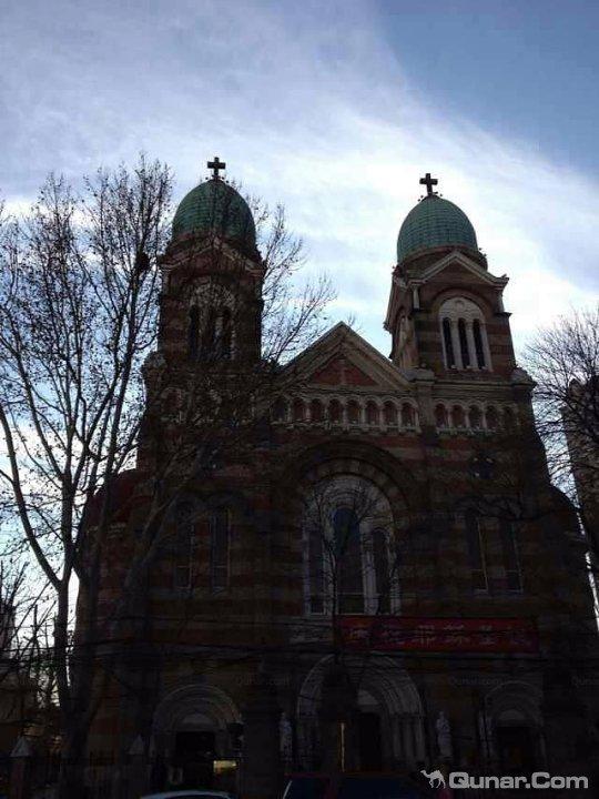 欧式教堂落地窗