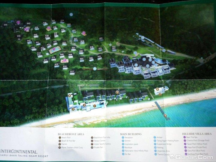 苏梅岛上四季,w,悦榕庄,康莱德,洲际等几家顶级酒店,分布在岛上四周各